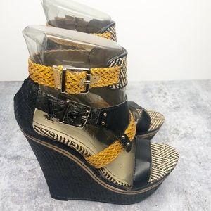 MOSSIMO Open Toe Sandals Women's Wedges Sz 7.5